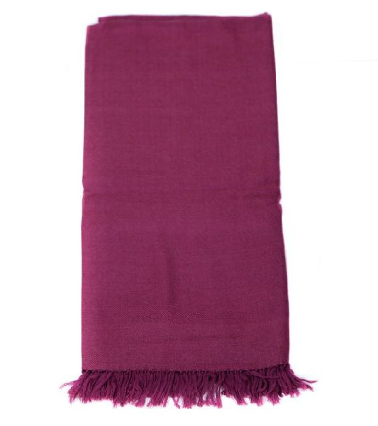 Purple Lambswool Shawl