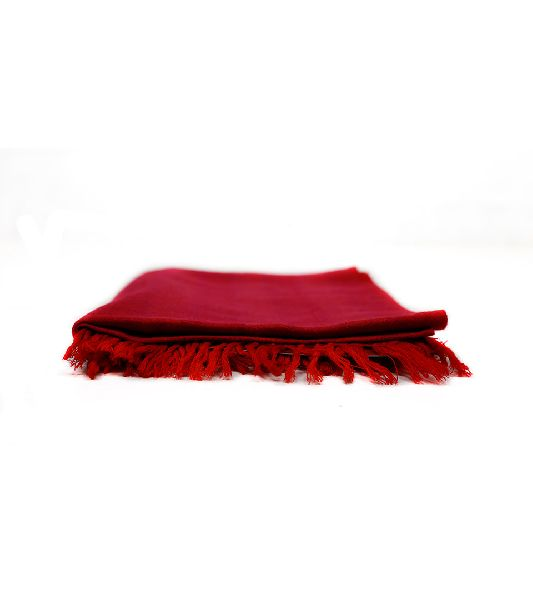 Fuscia and Vermilion Red Lambswool Scarves