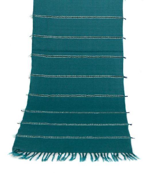 Peacock Green Lambswool Scarves