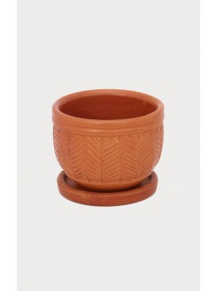 Clay Planter with Plate