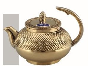 Dana Half Handle Brass Teapot