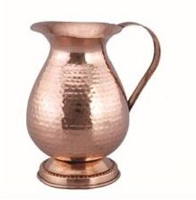 Elephant Hammered Copper Jug