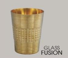 Fusion Brass Glass