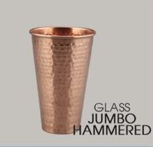 Hammered Jumbo Copper Glass