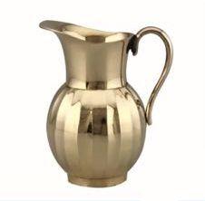 Lotus Brass Jug