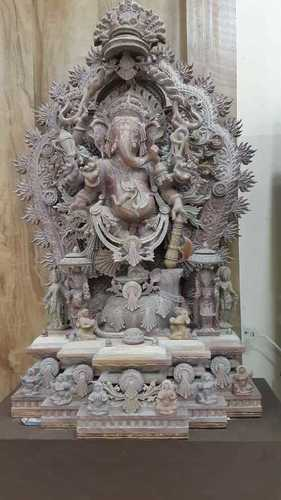 Designer Stone Ganesh Statue