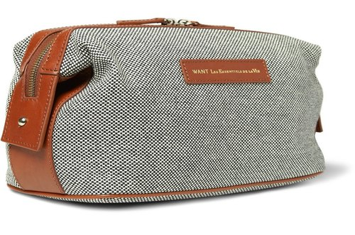 Canvas Leather Purse