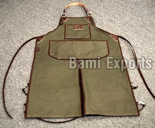 Leather Canvas Apron