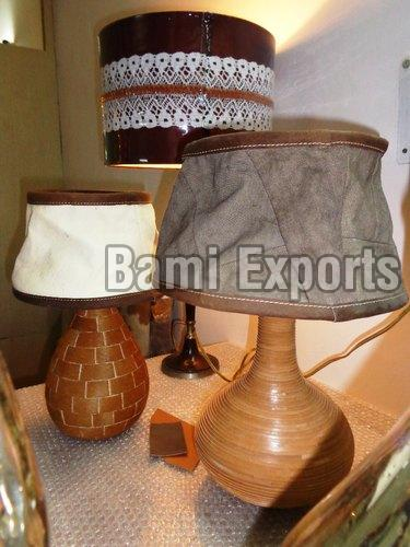 Leather Canvas Lamp Shades