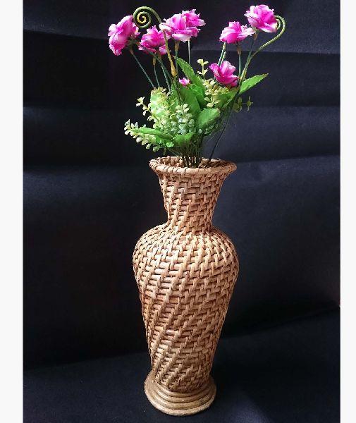 Cane Tabletop Flower Vase