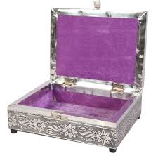 Meenakari Oxidized Jewellery Box