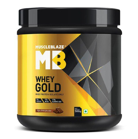 MuscleBlaze Whey Gold Protein 500g