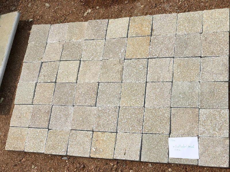 Yellow Limestone Cobbles