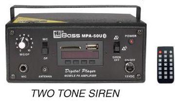 Amplifier with 2 tone Siren