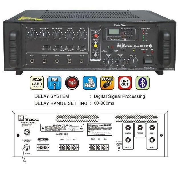 HSSA-300FBT Mixer Amplifier