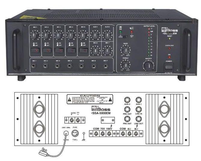 HSSA-5000EM High Power PA Amplifier