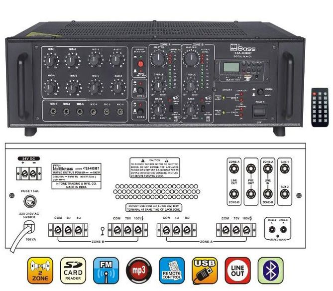 HTZA-4000BT Mixer Amplifier