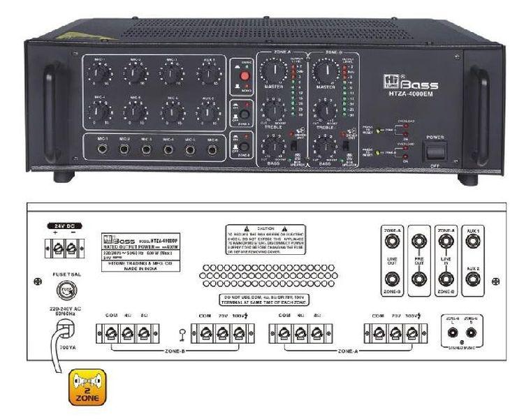HTZA-4000EM Two Zone PA Amplifier