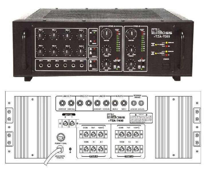 HTZA-7000 Two Zone PA Amplifier