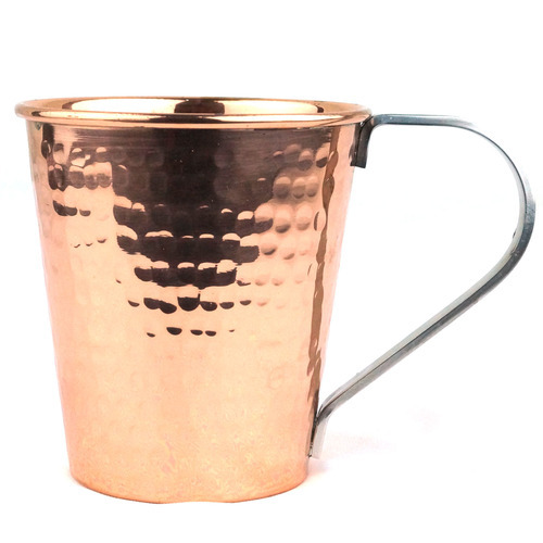 Bucket Hammared Copper Mug