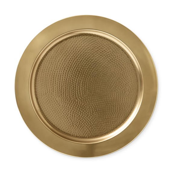 Inner Hammared Charger Plate