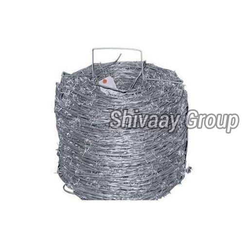 Silver Barbed Fencing Wire