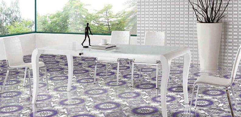 White & Ivory Glossy Series Floor Tiles