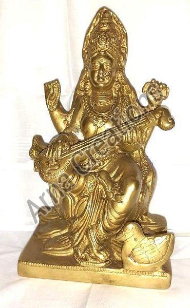 Brass  Saraswati Mata Statue