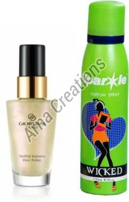 Oriflame Sweden Giordani Gold Radiance Elixir Primer with Sparkle Perfume Spray Combo