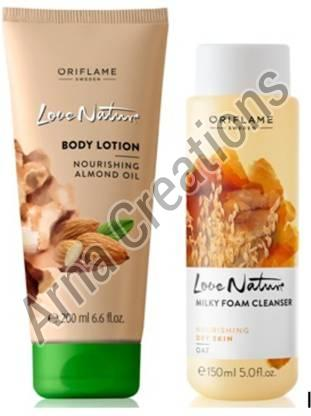 Oriflame Sweden Love Nature Body Lotion & Milky Foam Cleanser Combo