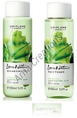 Oriflame Sweden Love Nature Cleansing Gel and Aloe Vera Face Toner Combo