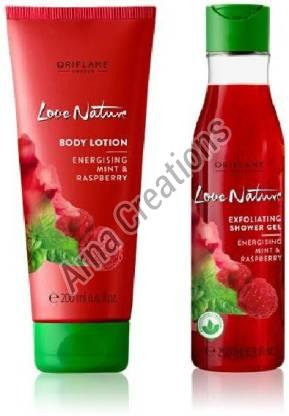 Oriflame Sweden Love Nature Energising Mint & Raspberry Lotion & Gel Combo