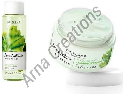 Oriflame Sweden Love Nature Face Toner & Gel Cream Combo