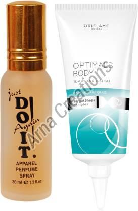 Oriflame Sweden Optimals Body Tummy and Bust Gel with Just Doit Perfume Combo