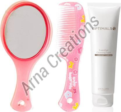 Oriflame Sweden Optimals Even Out Foaming Cleanser with Mirror Comb Combo