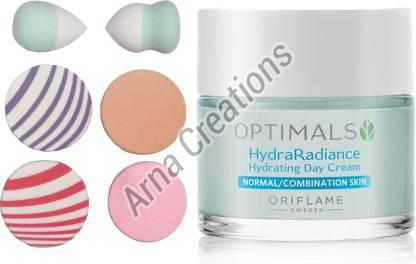 Oriflame Sweden Optimals Hydra Radiance Hydrating Day Cream with Sponge Combo