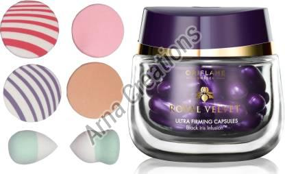 Oriflame Sweden Royal Velvet Ultra Firming Capsules with Puff Sponge Combo