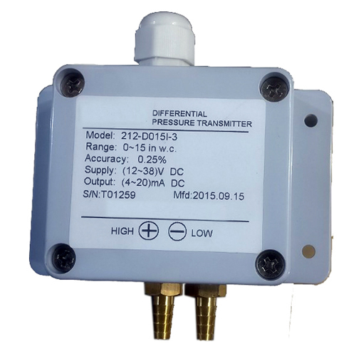 Low Range Differential Pressure Transmitter with Brass Connector