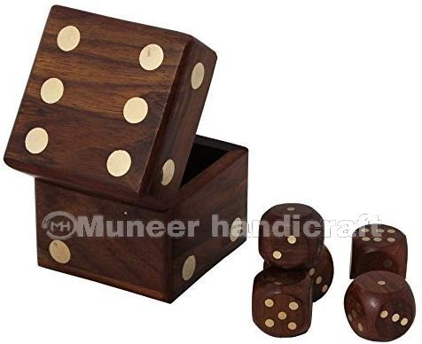 Wooden Dice Box Set