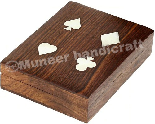 Wooden Playing Card Storage Box