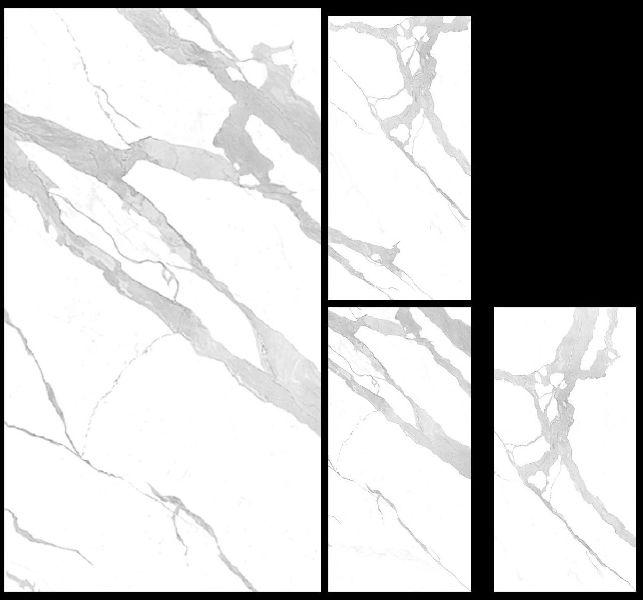 1200X2400mm Bianco Statuario Venato Glossy Series Vitrified Slabs