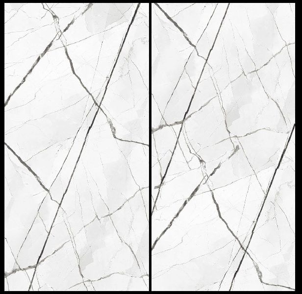 800X1600mm Bratvi White Glossy Series Vitrified Slabs