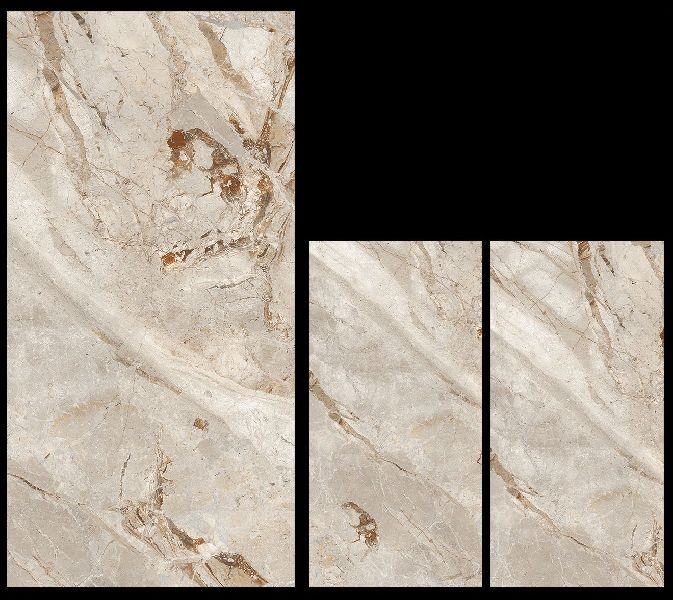 800X1600mm Breccia Olive Glossy Series Vitrified Slabs