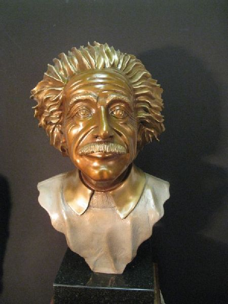 Metal Male Bust Statue