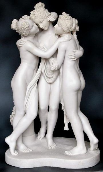 The Three Graces Statue