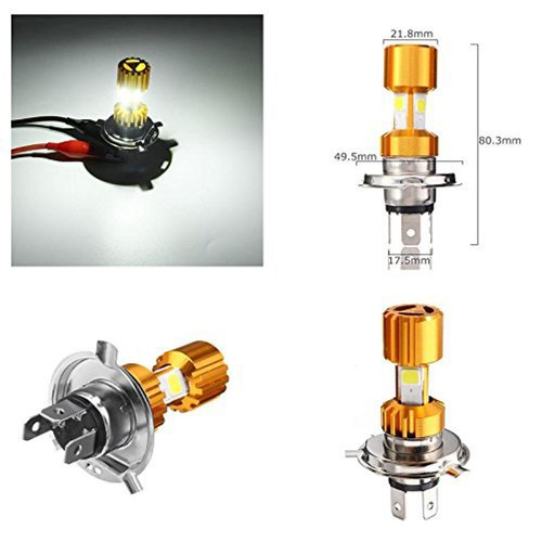 3 Cobb H4 LED Bike Headlight Bulb