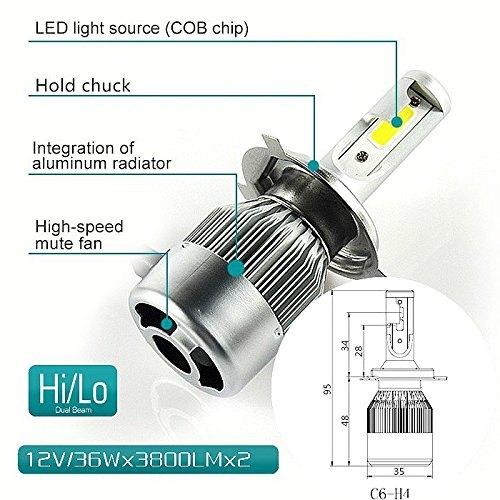C6 12V H4 Fog LED Headlight