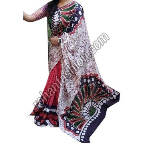 Hand Batik Saree