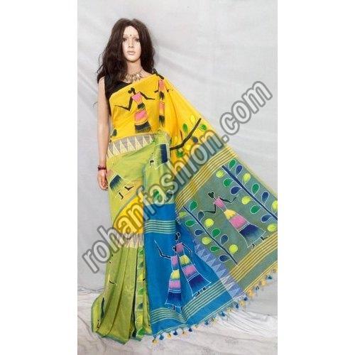 Hand Painted Handloom Saree