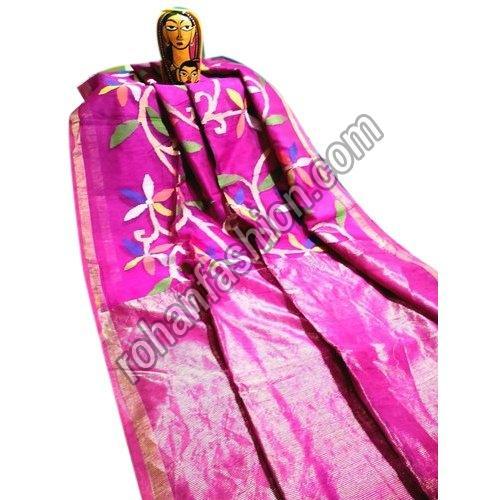 Party Wear Matka Muslin Silk Jamdani Saree